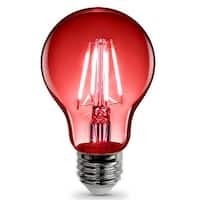 FEIT Electric A19/TR/LED A-Line Filament  LED Bulb, 3.6 Watts, 120 Volts, Red