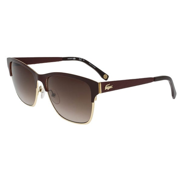 3786c726fc Shop Lacoste L160 SL 604 Burgundy Wayfarer sunglasses Sunglasses ...