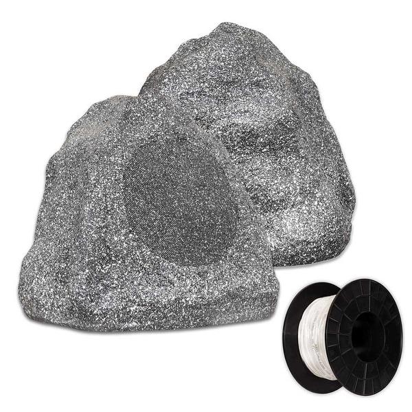 Shop Theater Solutions Granite Outdoor Rock 2 Speaker With