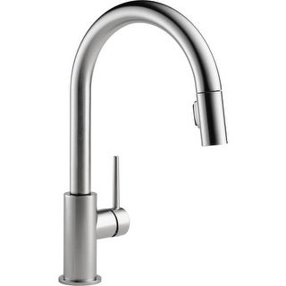 Delta 9159 DST Trinsic Pull Down Kitchen Faucet With Magnetic Docking Spray  Head