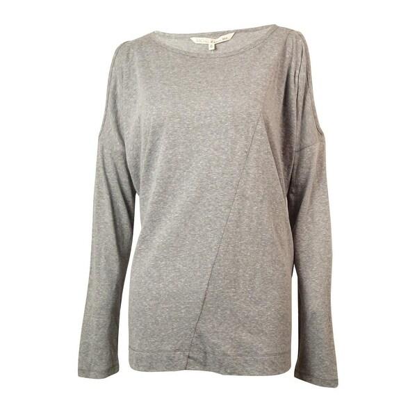 57dd43574b48 Shop Rachel Roy Women's Cold Shoulder Dolman Top - Medium Grey Heather - M  - On Sale - Free Shipping On Orders Over $45 - Overstock - 14817916