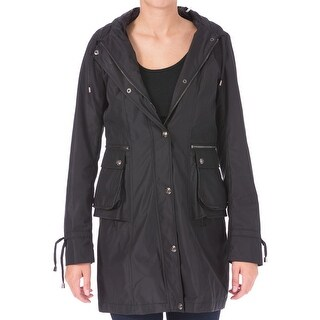 Laundry by Shelli Segal Womens Jacket Hooded Water Repellent