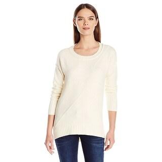 Calvin Klein Jeans Womens Crewneck High Low Hem Sweater Pristine Large L