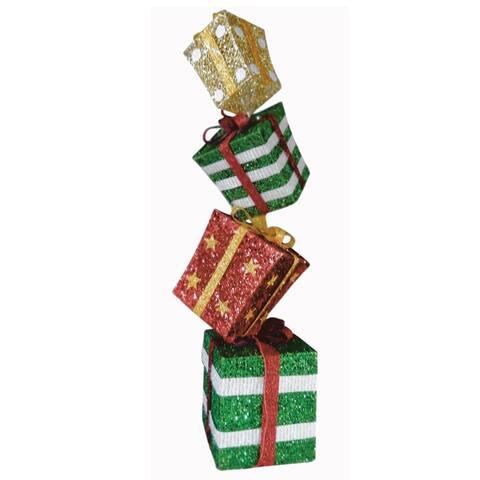 "Celebrations 53782-71 Stacked Gift Boxes Yard Decor, 48"""