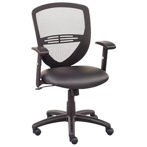 "Copper Grove Shete Mesh-back Faux Leather Office Chair - 24"" x 26"" x 36-40"" - 24"" x 26"" x 36-40"""