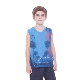 Boys Tank Top Summer V-Neck Graphic Muscle Shirt for Kids 2-10 Years Pulla Bulla