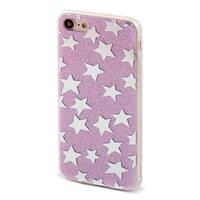 Shiny Bling Stars Pattern Back Protective Phone Hard Case Purple for iPhone 7