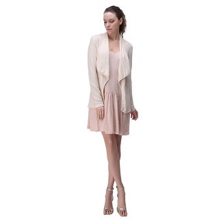 Link to Richie House Women's Solid Knit Cardigan with Irregular Placket Similar Items in Women's Outerwear