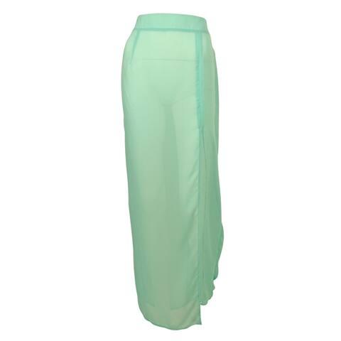 Miken Women's Maxi Skirt Swim Cover ups - Aqua Artic