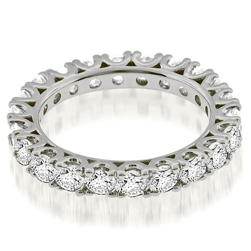 2.20 cttw. 14K White Gold Classic U-Prong Round Diamond Eternity Band Ring