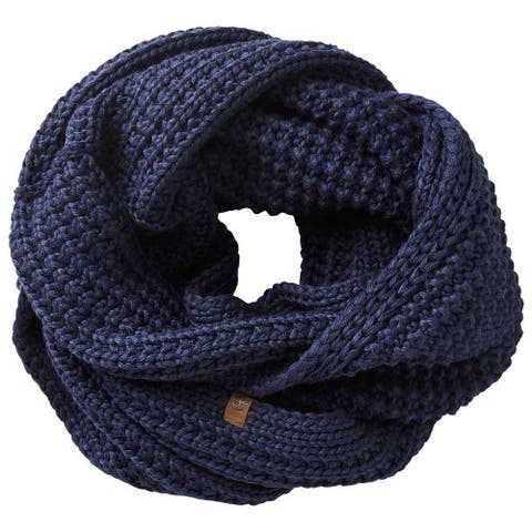 Timberland Womens/Ladies Reverse Leather Loop Infinity Scarf - One Size