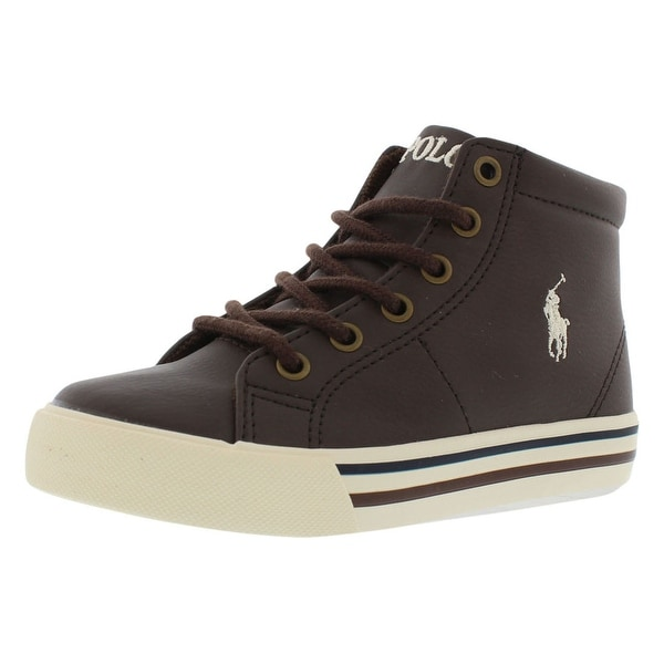 9c9c68dc39a2 Shop Polo Ralph Lauren Scholar Mid Casual Boy s Shoes - Free ...
