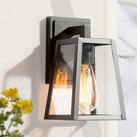 """Modern Rustic Matte Black Outdoor Wall Sconce Outdoor Wall Lamp Lighting - L 5.5""""x W 6.5""""x H 10"""""""