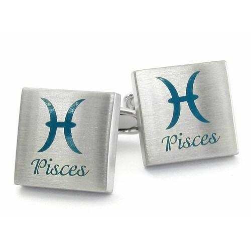 Pisces Zodiac Sign Cufflinks Astrology