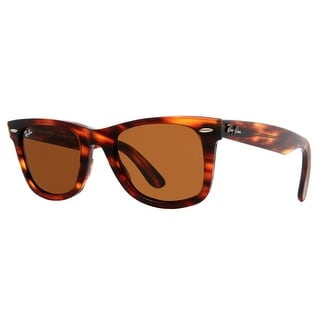 RAY-BAN Wayfarer RB 2140 Unisex 954 Tortoise Brown B-15 Sunglasses - 50mm-22mm-150mm