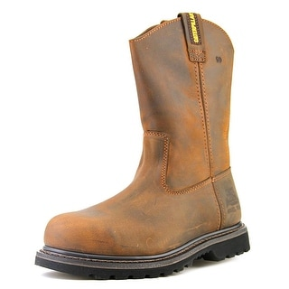 Caterpillar Edgework Unlined S Men Steel Toe Leather Brown Work Boot