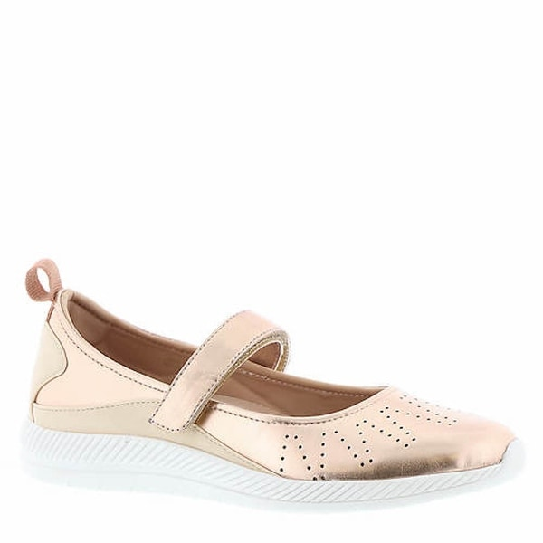 NEW Easy Spirit Womens Garima Gold Closed Toe Ankle Strap Mary Jane Shoes
