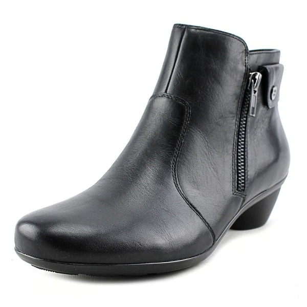 Naturalizer Haley Women W Round Toe Leather Black Bootie