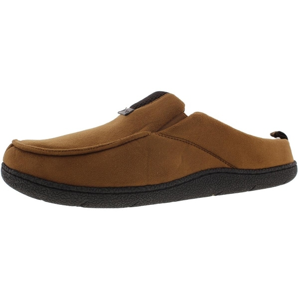 Dearfoams Mens Clog Slippers Memory Foam Indoor/Outdoor Sole