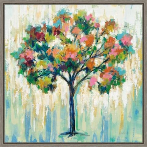 Blooming Tree by Silvia Vassileva Framed Canvas Art