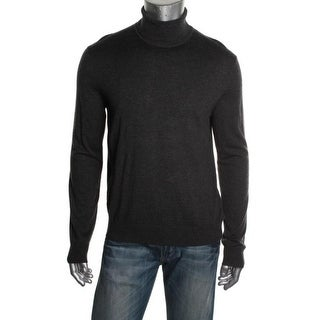 Michael Kors Mens Wool Blend Long Sleeves Casual Shirt - L