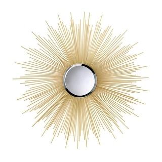 Modern Golden Rays Sunburst Mirror