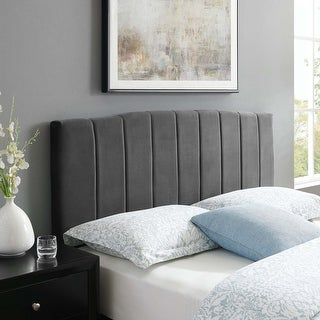 Link to Camilla Channel Tufted Twin Performance Velvet Headboard Similar Items in Bedroom Furniture