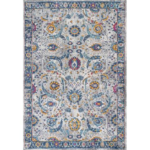 JONATHAN Y Izil Modern Persian Light Gray/Blue Area Rug