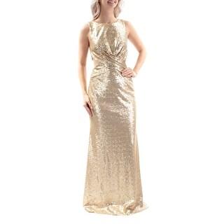 BETSY & ADAM $279 Womens New 1094 Gold Cut Out Sleeveless Sheath Dress 4 B+B