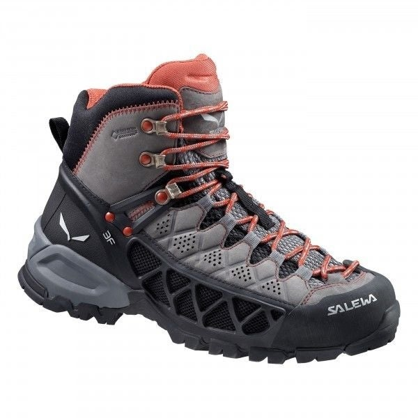 Salewa Alp Flow Mid GTX Hiking Shoes, Womens, Waterproof Gortex, Sz 6-11 - charcoal/indio