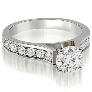 1.60 CT.TW Cathedral Round Cut Diamond Engagement Ring - White H-I