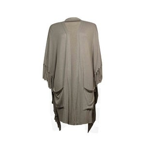 All @ Once Women's Fringed Pocket Batwing Knit Cardigan
