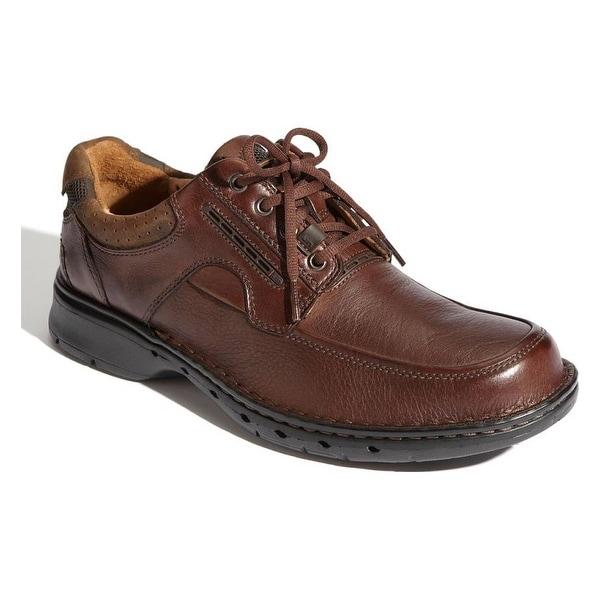 Clarks Men's Un.bend Brown Leather OxFord 13 B - Narrow