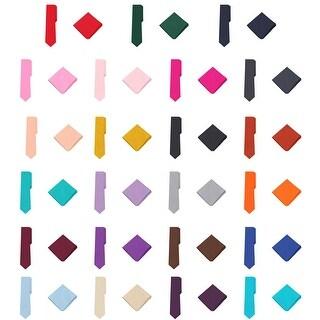Jacob Alexander Polka Dot Print Men's Reg Tie Pocket Square Set - One size