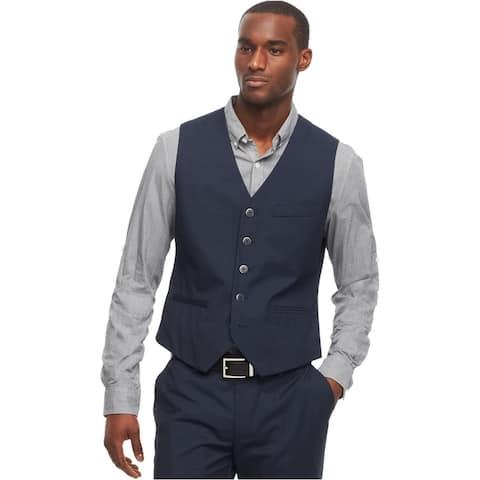Kenneth Cole Mens Micro Dot Four Button Vest
