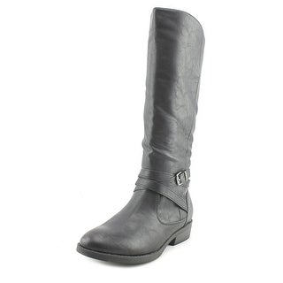 Baretraps Thunder Youth Round Toe Synthetic Black Mid Calf Boot (Option: 1.5)