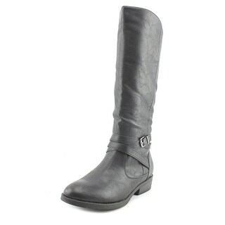 Baretraps Thunder Youth Round Toe Synthetic Black Mid Calf Boot