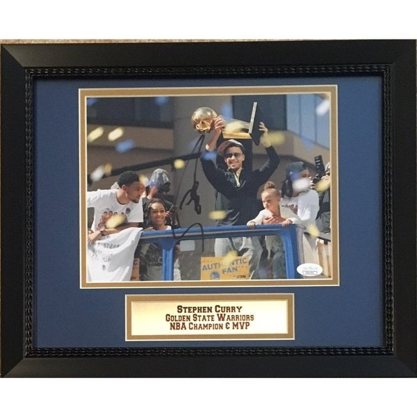f5364a535c9 Shop Stephen Curry Autographed Golden State Warriors Signed NBA Champion  MVP 8x10 Framed Basketball Phot - Free Shipping Today - Overstock - 27279394
