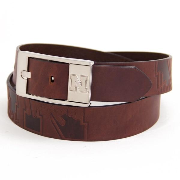 University of Nebraska Brandish Leather Belt