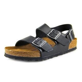 Birkenstock Milano Women Open-Toe Leather Black Slingback Sandal