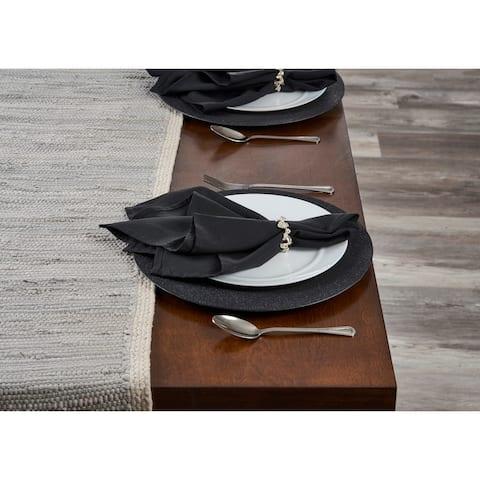 """Bordered Light Gray Table Runner - 1'-4"""" X 6'-8"""""""