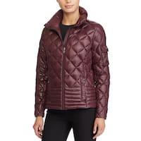 Lauren Ralph Lauren Stand Collar Packable Down Jacket Burgundy