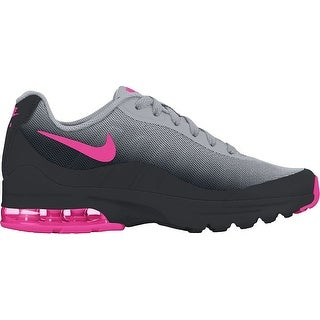 Nike Girl's Air Max Invigor Running Shoes Black/Hyper Pink-Wolf Grey