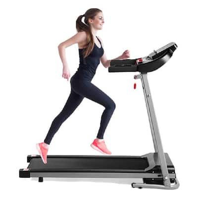 Moda Folding Treadmill 2.25HP Desktop Electric Treadmill with LCD Display and Cup Holder