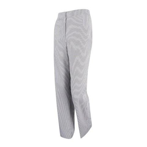 Kasper Women's Citrus Grove Seersucker Kate Classic Fit Pants