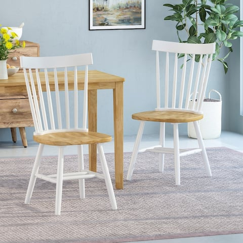 Balcomb Farmhouse Dining Chairs (Set of 2) by Christopher Knight Home