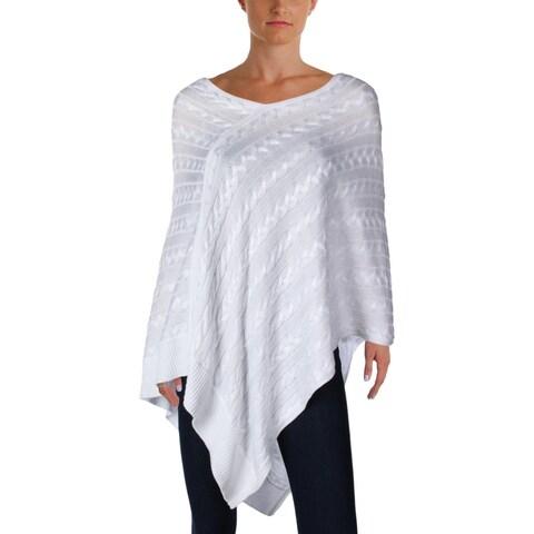 Ralph Lauren Womens Poncho Sweater Wide Neck Sleeveless - o/s
