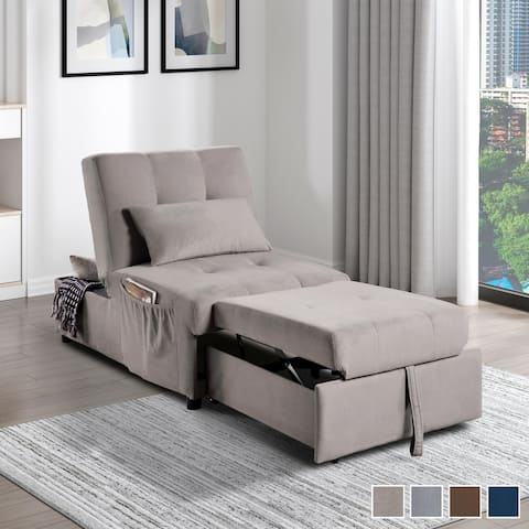 Daria 4-in-1 Convertible Futon Lounge Chair