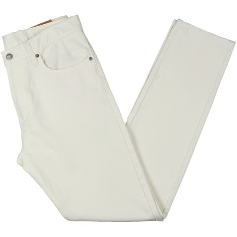 Levi Strauss & Co. Mens 512 Slim Jeans Denim Classic - White