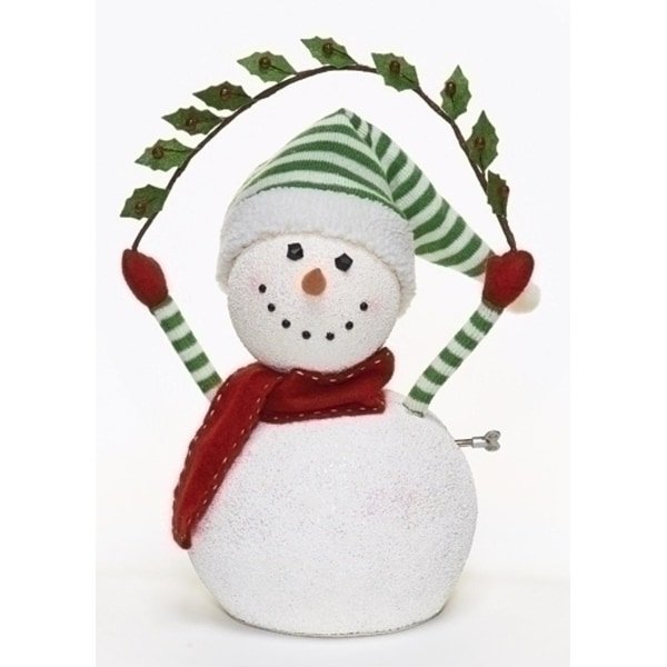 """17"""" Happy Holidays Animated and Musical Snowman Christmas Figure"""